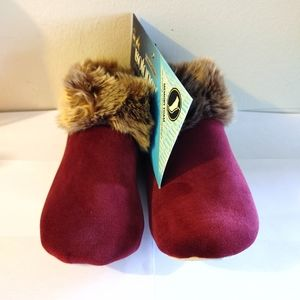 isotoner Shoes - Totes Isotoner Velour Booties Small